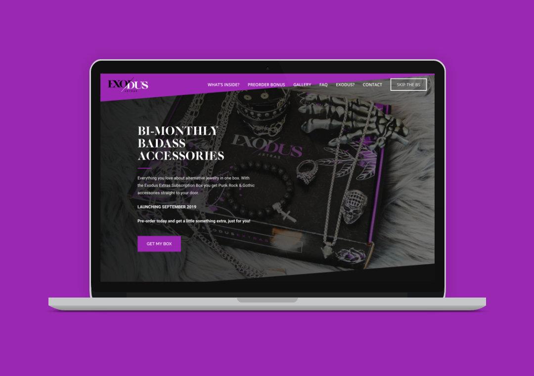 Exodus Extras Website Laptop Mockup