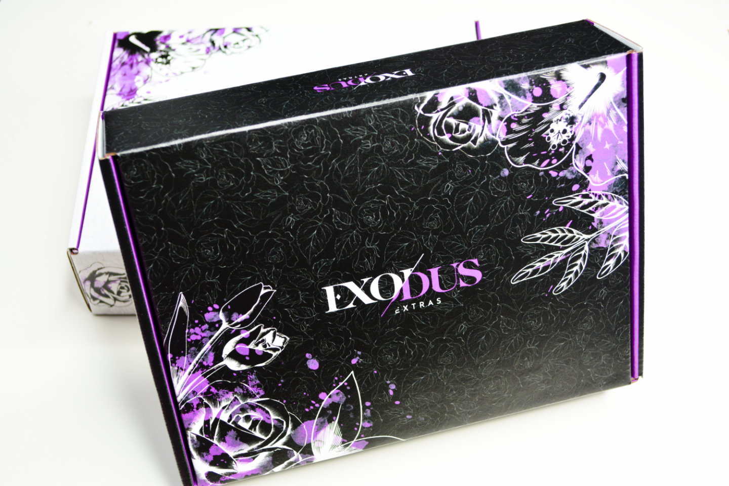 Exodus Extras Subscription Box mens black closed box front view
